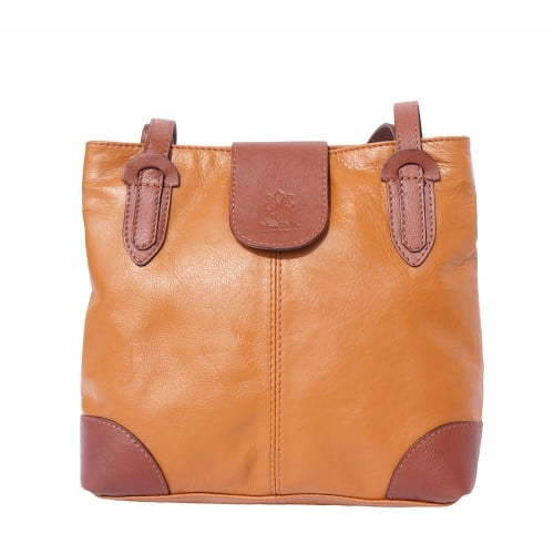 Medium shoulder leather bag in genuine leather Susanna Colour tan brown for women