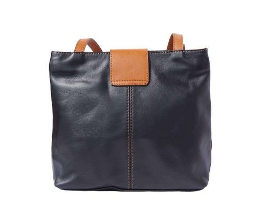 black tan bag in genuine leather Paaveli for women