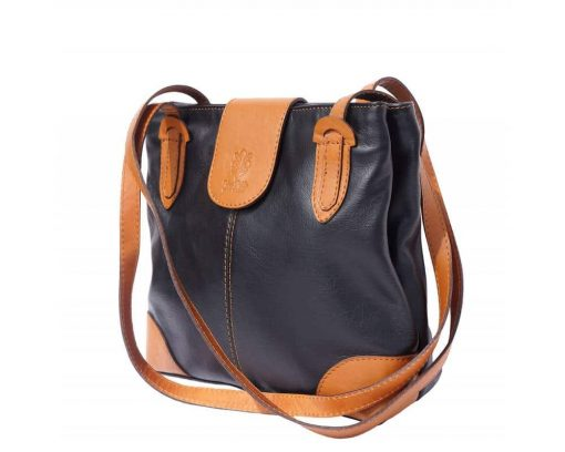 black tan bag in leather Paaveli for woman