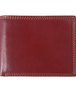 dark brown wallet in natural leather Petronel for woman