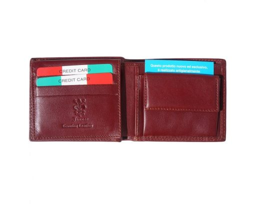 dark brown wallet in genuine leather Petronel for woman