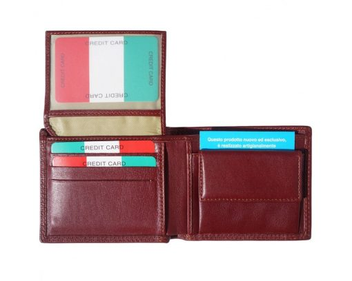 dark brown wallet in leather Petronel for man