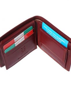 dark brown wallet Petronel for man