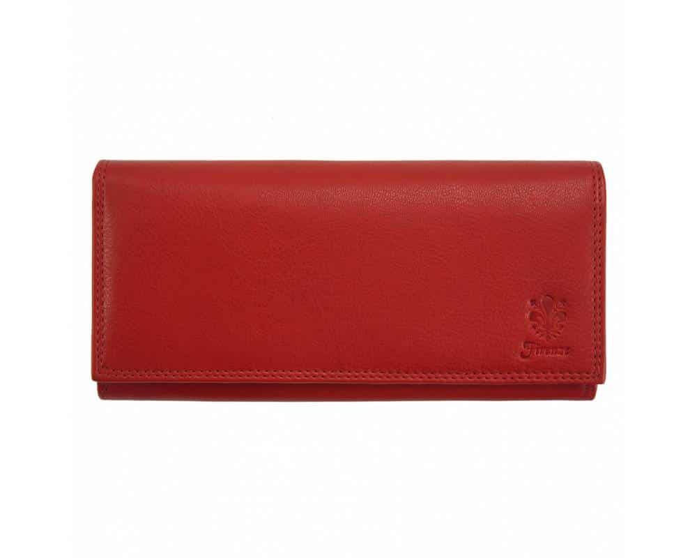 red wallet of natural leather sofia