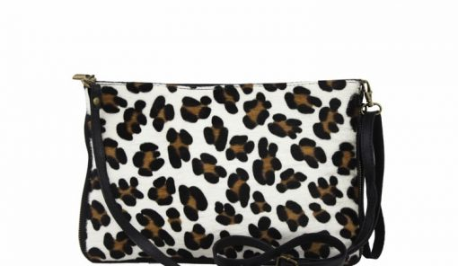 sale buy clutch Izusa in real leather sauvage for women