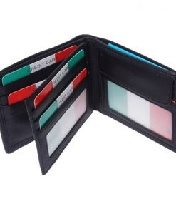 Genuine leather wallet Sigmund colour black for men