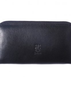 Zippy wallet Serafina in soft cow genuine leather Colour black for women