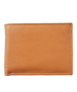 tan wallet in soft natural leather Rodica for man