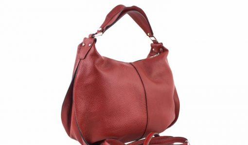 buy dark red shoulder bag in real leather Sibilla for women