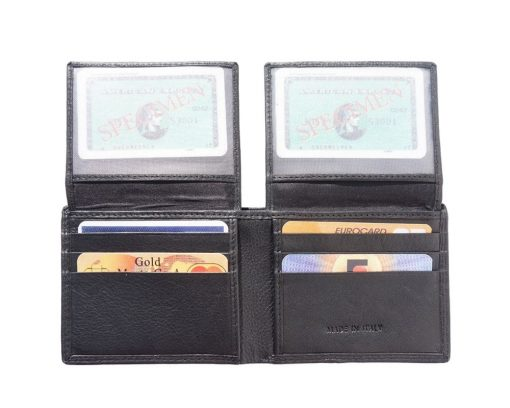 black wallet in soft leather Rena for man