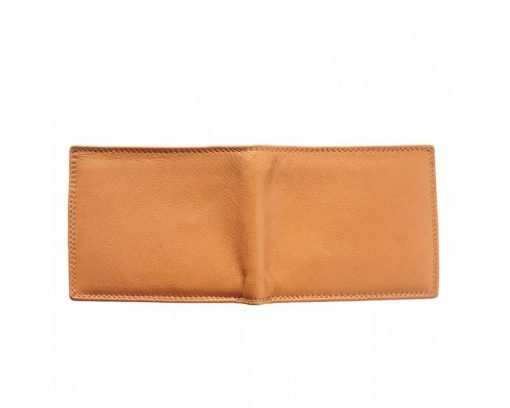 tan handmade wallet in soft natural leather pavel for men