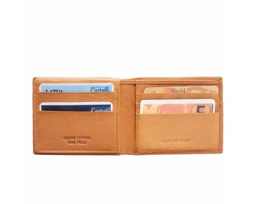 tan handmade wallet in natural natural leather pavel for men