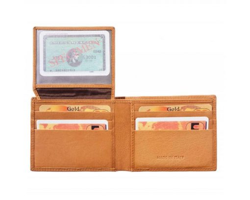 tan handmade wallet in real natural leather pavel for men