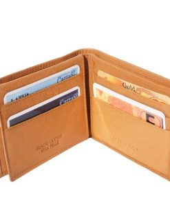 medium wallet in genuine leather Ruggero colour tan for men