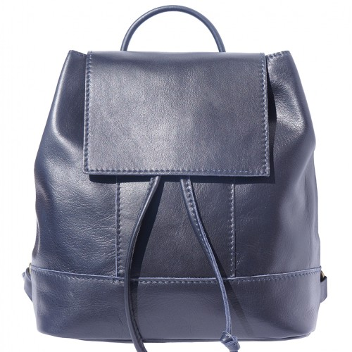 buy italian Backpack in soft genuine cow leather Rita Colour dark blue for women