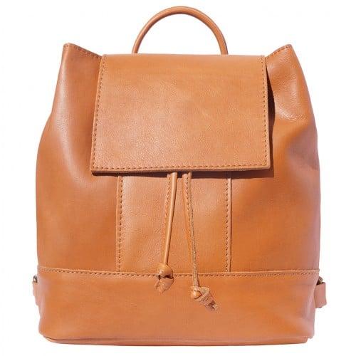 buy italian Backpack in soft genuine cow leather Rita Colour tan for women