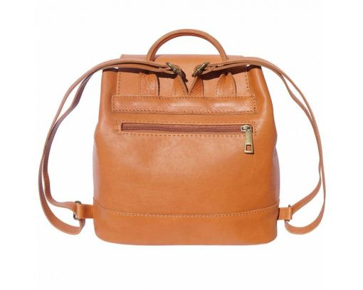 tan backpack in leather Florentina woman