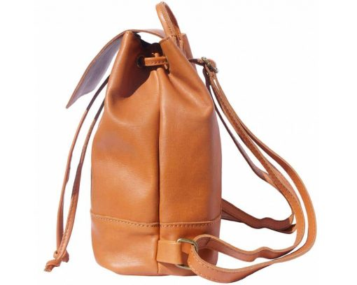 tan backpack in genuine leather Florentina woman