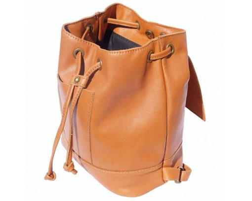 tan backpack Florentina woman