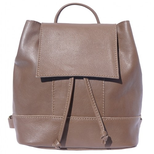 buy italian Backpack in soft genuine cow leather Rita Colour Dark taupe for women