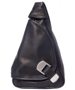 Backpack purse shoulder bag from genuine leather Federica Colour black for men