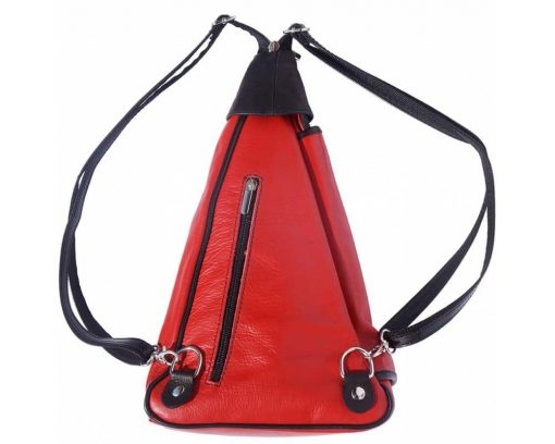 red backpack in soft leather Tea for woman