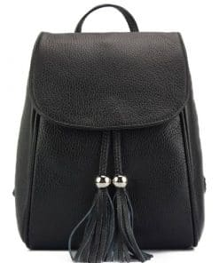 black backpack Franca for women