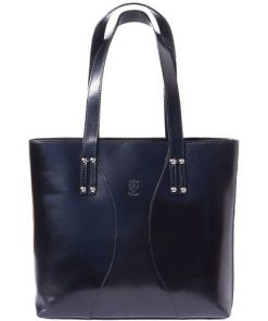 Bag in genuine leather Fedra colour black photo for women