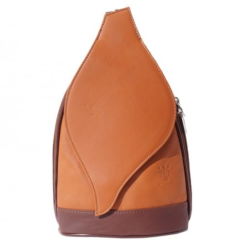 Large backpack Sara in genuine leather Colour tan brown for women
