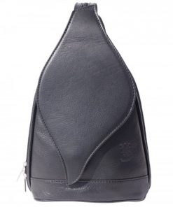 Large backpack Sara in genuine leather Colour black for men