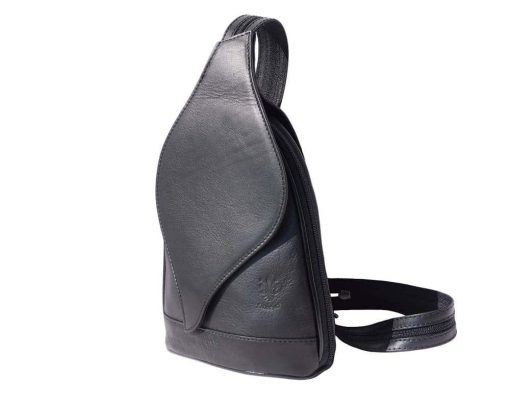 black backpack in soft leather Tina woman