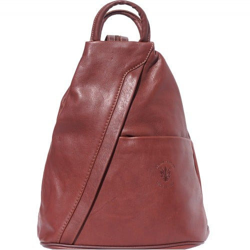 Backpack purse and shoulder bag in genuine leather Alessia Colour brown for men