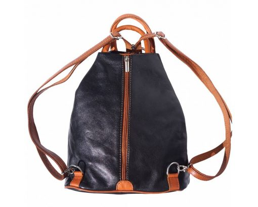 black tan backpack in luxury genuine leather Ludovica for women