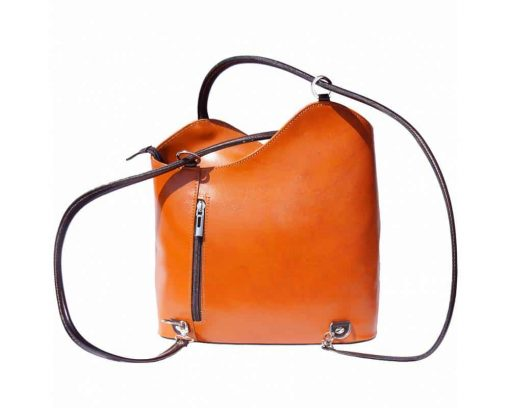 tan brown handmade bag in leather polixenea women