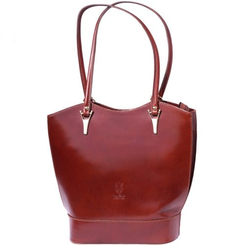 Convertible backpack in shoulder bag Ginevra colour brown photo for women