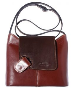 cross body ag Vissia in genuine rigid leather colour brown dark brown for women
