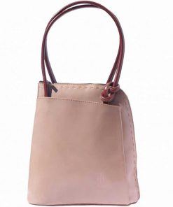 light taupe small bag for woman from italy from natural leather