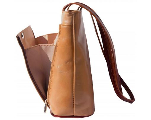 light taupe brown shoulder bag in leather Claudia for women