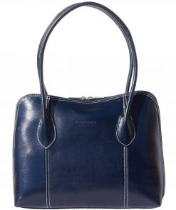 shoulder bag blue color photo