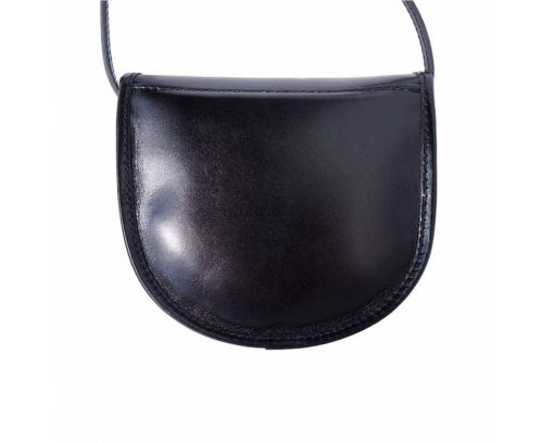 black cross body bag in real leather Celica for women