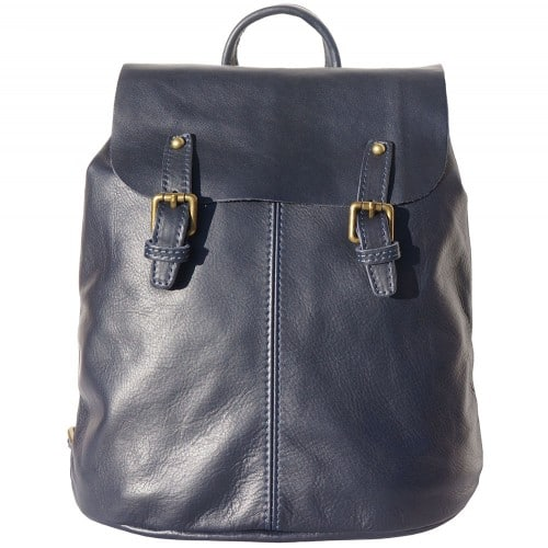 Backpack in natural leather Elisa Colour Dark Blue for women