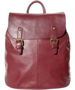 Backpack in natural leather Elisa Colour bordeaux for women