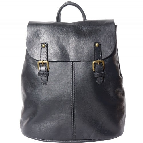 Backpack in natural leather Elisa Colour black for men
