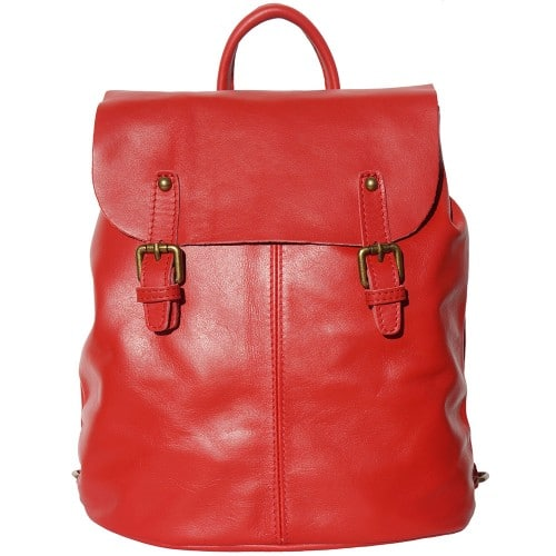 Backpack in natural leather Elisa Colour light red for women