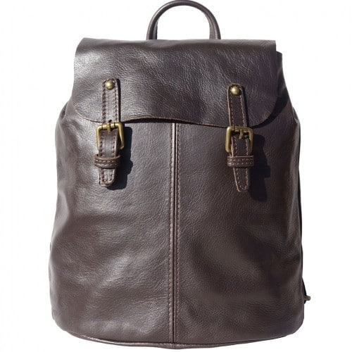 Backpack in natural leather Elisa Colour Dark Brown for men