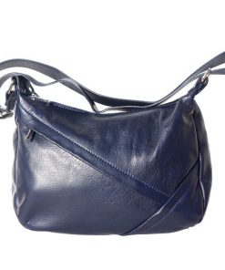 shoulder bag Zuleika in genuine leather colour dark blue for women