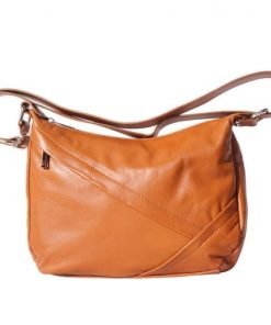 shoulder bag Zuleika in genuine leather colour tan for women