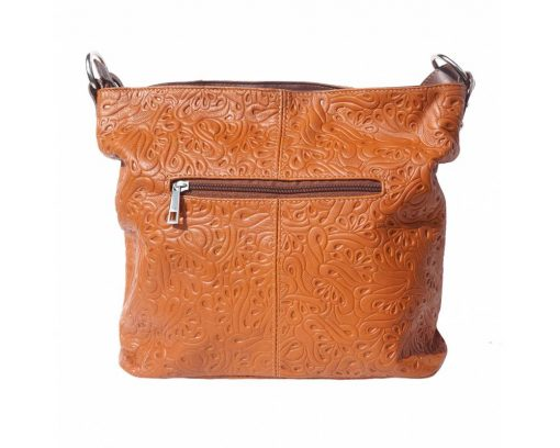 tan bag in printed genuine leather Oatbald for woman