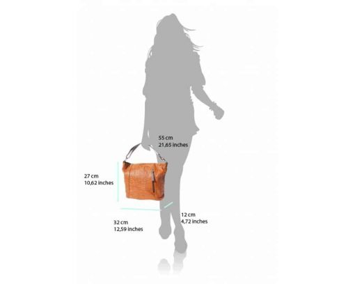 tan bag in printed real soft leather Oatbald from italy for woman