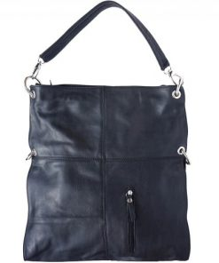 Shoulder bag Zorya in genuine leather black for women